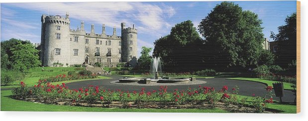 Blooming Wood Print featuring the photograph Kilkenny Castle, Co Kilkenny, Ireland by The Irish Image Collection