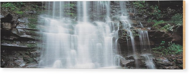 Photography Wood Print featuring the photograph Usa, Pennsylvania, Ganoga Falls by Panoramic Images