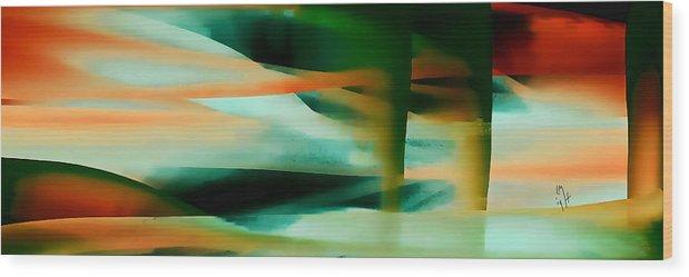 Digital Wood Print featuring the digital art 8104 by Mickey Harris