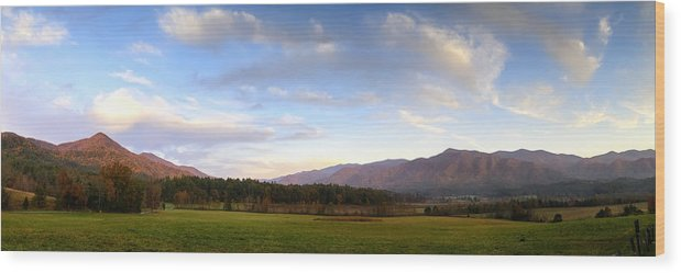 Cades Cove Wood Print featuring the photograph Late October Dusk At Cades Cove by Steve Samples
