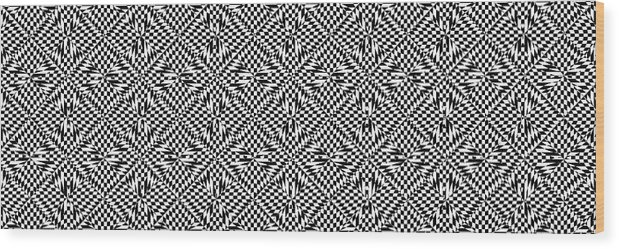 Modern Art Wood Print featuring the digital art Mind Games 61 Se by Mike McGlothlen