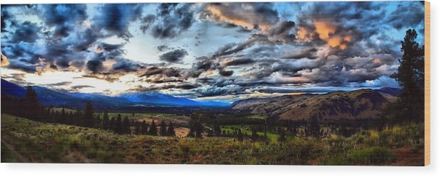 Montana Wood Print featuring the photograph Montanta Sunset by DH Visions Photography