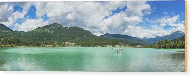 Nobody Wood Print featuring the photograph Panorama Of Green Lake, Whistler by Ben Girardi