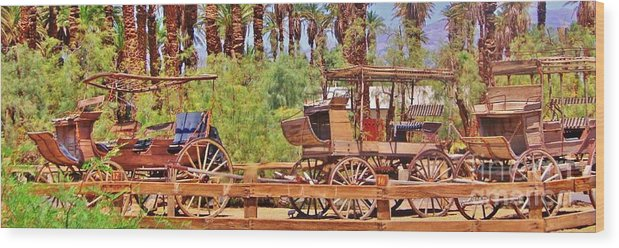 Wagons Wood Print featuring the photograph Preserved by Marilyn Diaz