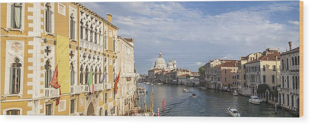 Ancient Wood Print featuring the photograph Venice Canal Grande And Santa Maria Della Salute by Melanie Viola