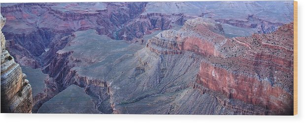 Travel Destinations Wood Print featuring the photograph Panoramic View Of The Grand Canyon by Jeff Rose