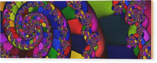 Schnecke Wood Print featuring the digital art 3x1 Abstract 909 by Rolf Bertram