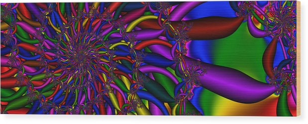 Spiderweb Wood Print featuring the digital art 3x1 Abstract 911 by Rolf Bertram