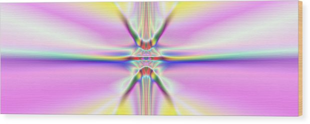 Colorful Distortions Wood Print featuring the digital art 3x1 Abstract 917 by Rolf Bertram