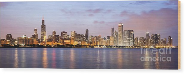 2010 Wood Print featuring the photograph Chicago Panorama by Paul Velgos