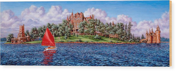 Castle Wood Print featuring the painting Heart Island by Richard De Wolfe