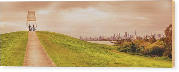 Australia Wood Print featuring the photograph Point Ormond To The City by Michael Lees