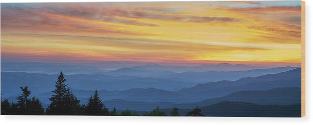 Sunrise Wood Print featuring the photograph Sunrise In The Smokies by Steven Owens