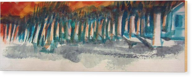 Woods Wood Print featuring the painting Woodside by Steven Holder