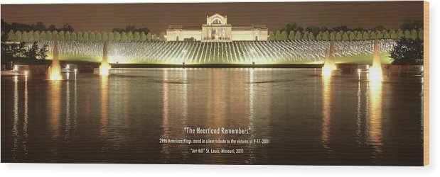 9-11 Wood Print featuring the photograph The Heartland Remembers by Harold Rau