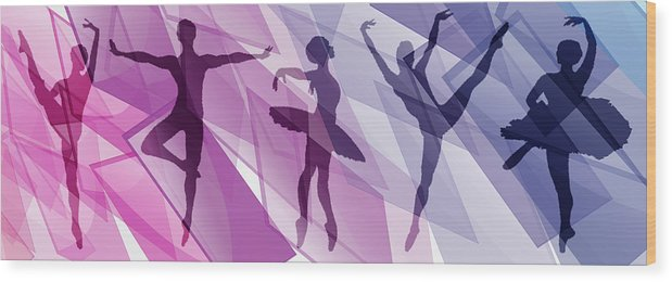 Life Wood Print featuring the mixed media Simply Dancing 1 by Angelina Vick