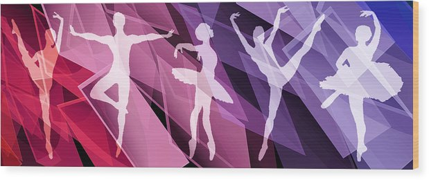 Life Wood Print featuring the mixed media Simply Dancing 2 by Angelina Vick