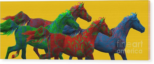 Equine Art Wood Print featuring the photograph Horse Of A Different Color by Patty Hallman