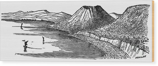 1887 Wood Print featuring the photograph Naples: Monte Nuovo, 1887 by Granger