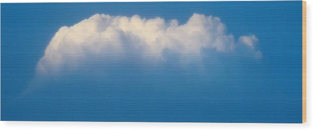 Cloud Wood Print featuring the photograph Glowing Cloud One by Ana Villaronga