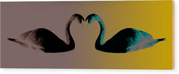 Photo Comp Wood Print featuring the photograph The Color Of Love by Jason Williams