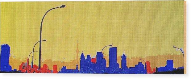 Toronto Wood Print featuring the photograph Toronto Lemon Skyline by Ian MacDonald
