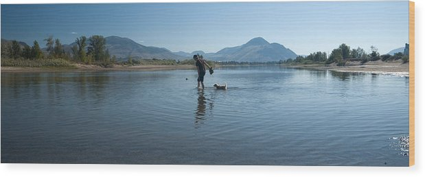 Water Wood Print featuring the photograph Walk On Water by Peter Olsen