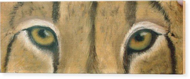 Cheeta Wood Print featuring the painting Whos Watching Who Cheeta by Darlene Green
