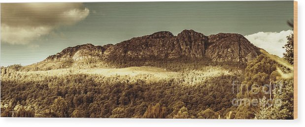 Panorama Wood Print featuring the photograph Wild West Mountain Panorama by Jorgo Photography - Wall Art Gallery