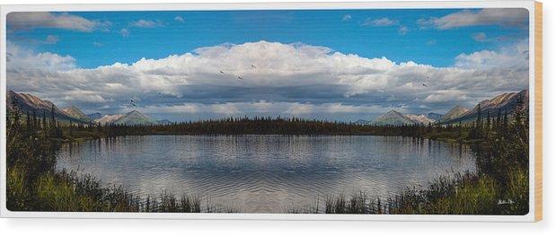 Alaska Wood Print featuring the photograph America The Beautiful 2 - Alaska by Madeline Ellis