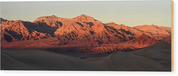 Death Valley Wood Print featuring the photograph Mesquite Sand Dunes In Death Valley National Park by Pierre Leclerc Photography