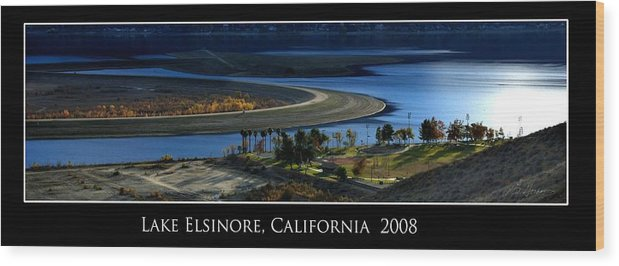Lake Wood Print featuring the photograph Lake Elsinore Sunset by Richard Gordon