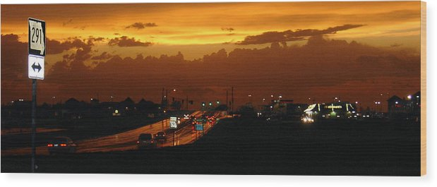 Landscape Wood Print featuring the photograph Missouri 291 by Steve Karol