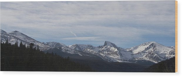 Rocky Sawtooth Wood Print featuring the photograph Rocky Sawtooth by Dylan Punke
