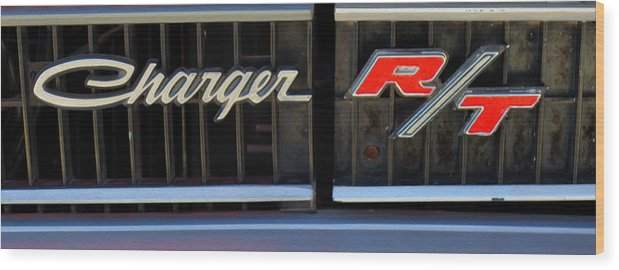 Emblem Wood Print featuring the photograph Charger R/t by Morris McClung