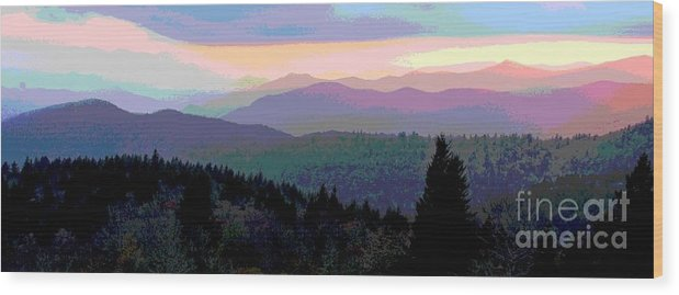Sunset Wood Print featuring the photograph Blue Ridge Sunset by Cindy Manero