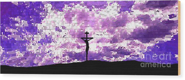 Jesus Crucifiction Wood Print featuring the photograph Father Forgive Them by Ed Moore