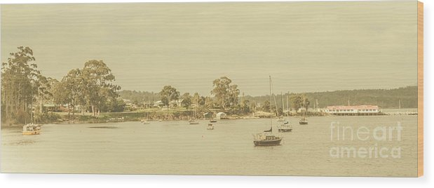 Nautical Wood Print featuring the photograph Vintage Dover Harbour Tasmania by Jorgo Photography - Wall Art Gallery
