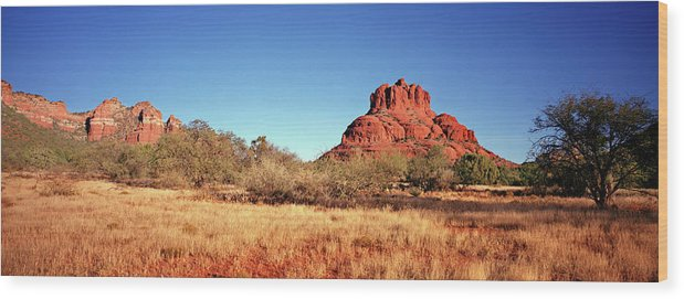 Scenics Wood Print featuring the photograph Bell Rock, South Of Sedona, Arizona by Lfreytag
