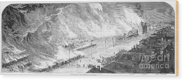 1877 Wood Print featuring the photograph Great Railroad Strike, 1877 by Granger