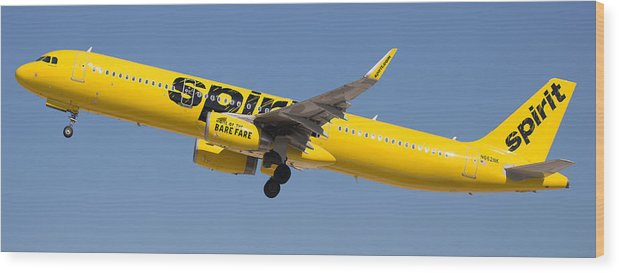 Spirit Wood Print featuring the photograph Spirit Airline by Dart and Suze Humeston