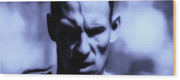 Arjen Robben Wood Print featuring the painting Arjen Robben 2a by Brian Reaves