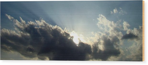 Blue Wood Print featuring the photograph Radiant Sky One by Ana Villaronga
