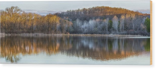 Reflection Wood Print featuring the photograph Daybreak by Brad Bellisle