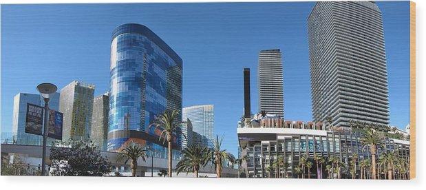 Las Wood Print featuring the photograph Las Vegas - Cosmopolitan Casino - 12121 by DC Photographer