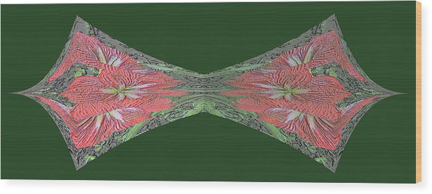 Amaryllis Wood Print featuring the digital art Chalk It Up Bowtie by Marian Bell