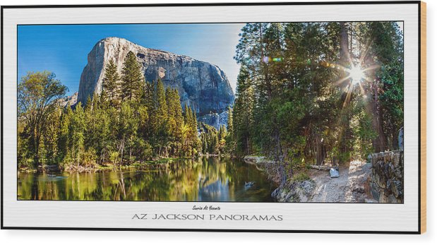 Yosemite National Park Wood Print featuring the photograph Sunrise At Yosemite Poster Print by Az Jackson