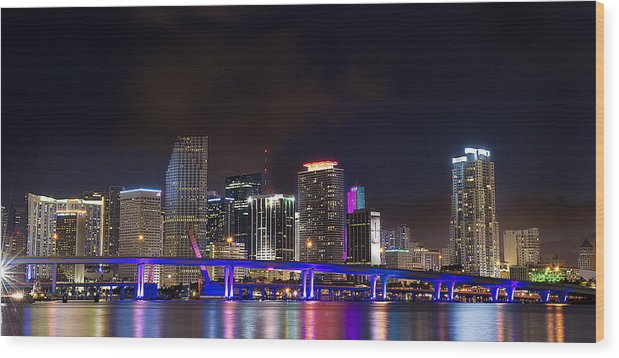 Miami Wood Print featuring the photograph Miami by Peter Santos