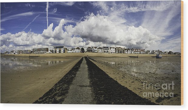 Southend On Sea Wood Print featuring the photograph Southend on Sea panorama by Sheila Smart Fine Art Photography