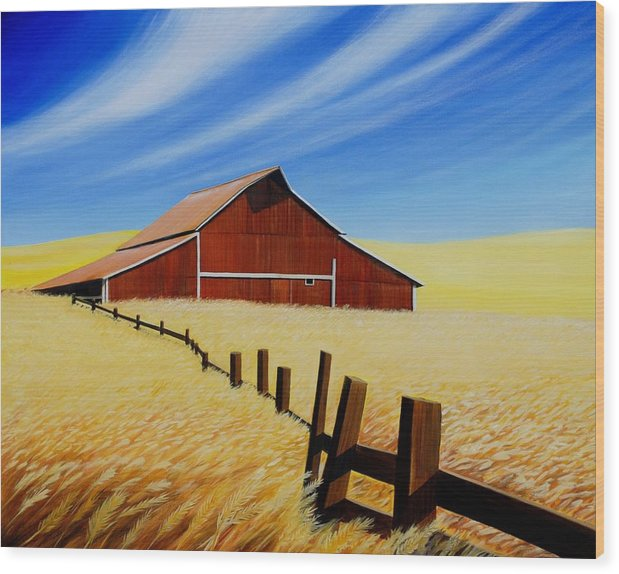 Barn Wood Print featuring the painting Stable near St. Johns by Leonard Heid